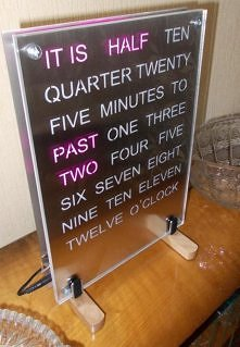Word Clock Pink