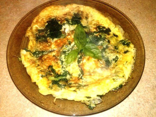 Idealna dietetyczna kolacja - omlet ze szpinakiem. Przepis po kliknięciu :)