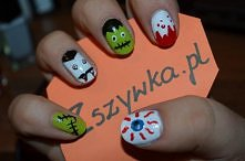 Halloweenowe pazurki <3