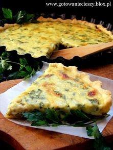 Tarta z Porem i Pieczarkami Zdecydowanie najlepsza, jaką gdziekolwiek i kiedykolwiek jadłam.  Ciasto:      200 g mąki     120g masła     zimna woda (ok. 30 ml)     2 szczypty so...