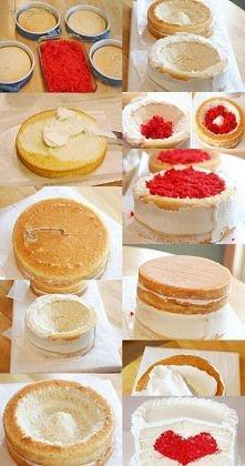 tort w kształcie serca ? nic prostszego ! ;)