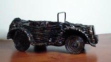 wiklina papierowa - samochód