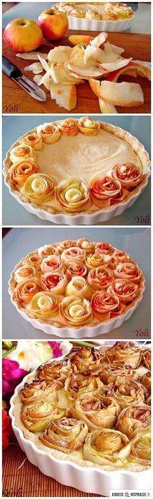 tarta z różyczkami