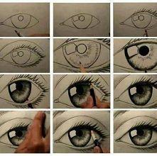 jak narysować oko ;3