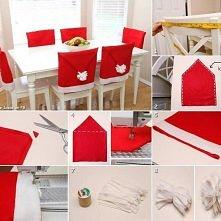 krzesła w stylu świątecznym