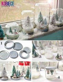 Śnieżne .. słoiczki ;) Świetny pomysł na święta :)