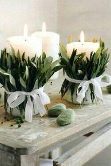 jemioła wokół świec - piękne i proste!
