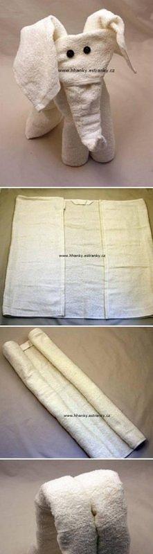 słonik z ręcznika