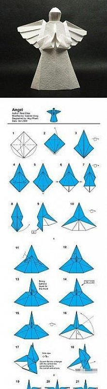 anioł origami