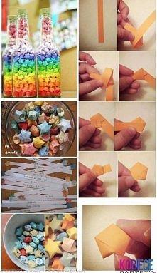 Butelki marzeń  Potrzebujemy butelek, trochę papieru kolorowego oraz duużo czasu:)  Na prostych wyciętych kawałkach papieru zapisujemy np. 100 rzeczy za które lubimy drugą osobę...