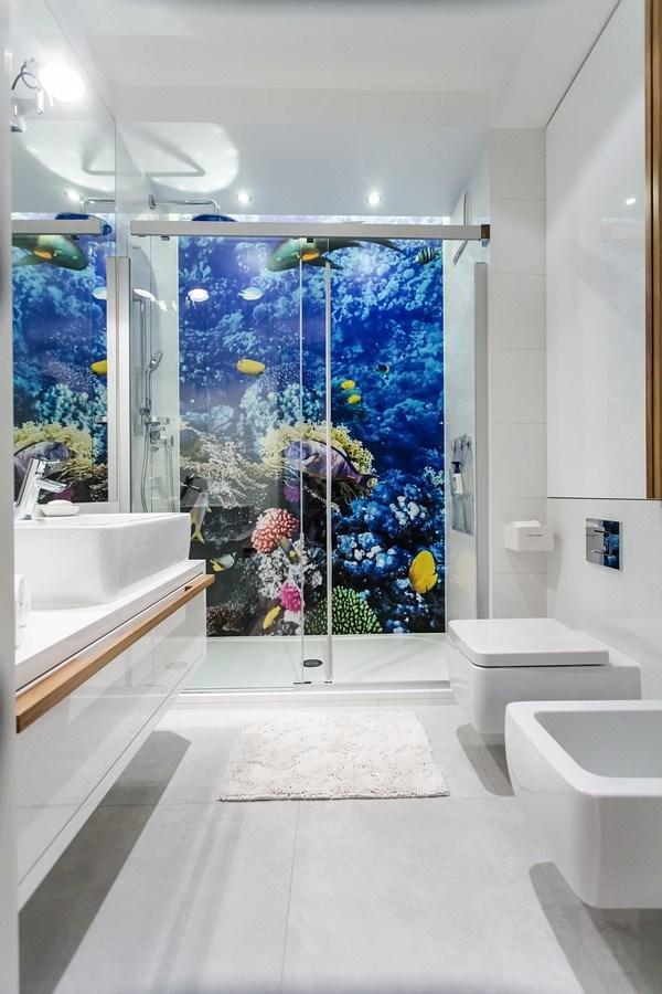 łazienka Z Fototapetą Na łazienka Zszywkapl