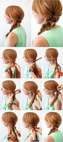 ciekawy tutorial ładnej fryzury którą można wykorzystać na randkę :)