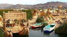 Wyspa Uros w Peru