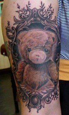 tatuaż miś