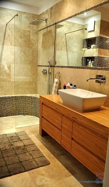 łazienka główna - Łazienka - Styl Glamour - Autorskie Studio Projektowe Indygo
