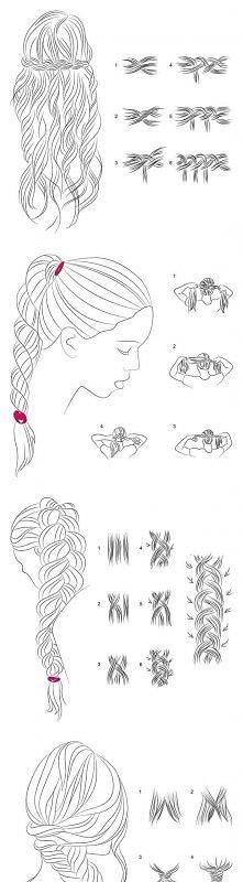 diy, braided hair, tutorial...
