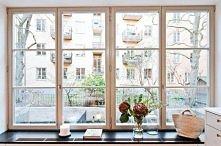 Sztokholm, okno w kuchnia