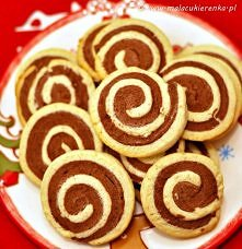 Ciasteczka czekoladowo – waniliowe  Składniki na około 25 sztuk: 250g mąki ps...