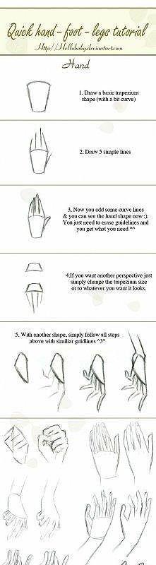 Porady ;) jak narysować rękę