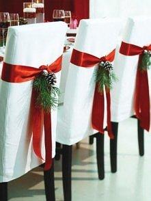 świąteczna ozdoba krzeseł -...