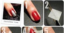świąteczne paznokcie ;>