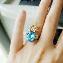Śliczny pierścionek - renifer