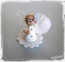 Śliczne Aniołki jako podziękowanie dla gości :) zapraszam www. upominek_sklep...