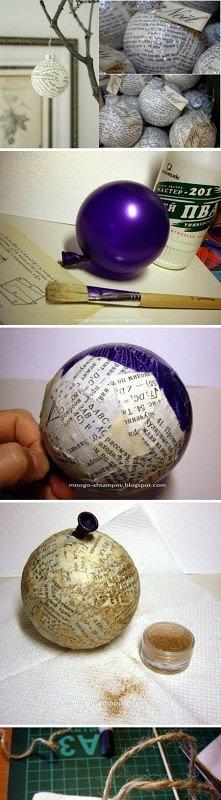 Bombki z papieru  Materiały...
