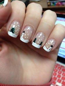 śliczne świąteczne paznokcie