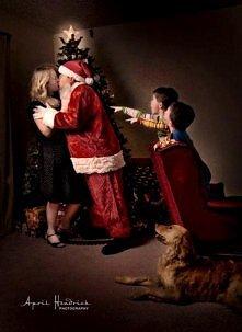 """I Saw Mommy Kissing Santa Claus"" :)"