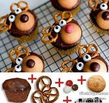 Reniferkowe Muffinki. Proste, ale jakie efektowne! :)