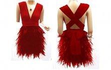 Sukienka z piór ekskluzywba