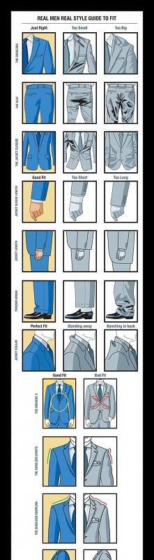 Dopasowany idealnie garnitur