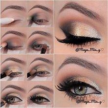 Makijaż powiększający oko.