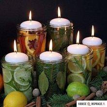 Piękne dekoracje z świeczkami