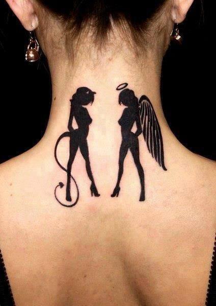 Tatoo Diabeł I Anioł Na Tatuaże Zszywkapl