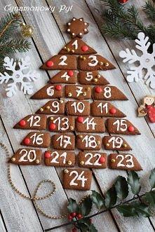 pierniczkowy kalendarz adwentowy