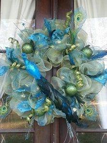 wieniec w kolorach peacock