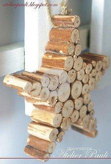 Gwiazda z drewnianych kołków