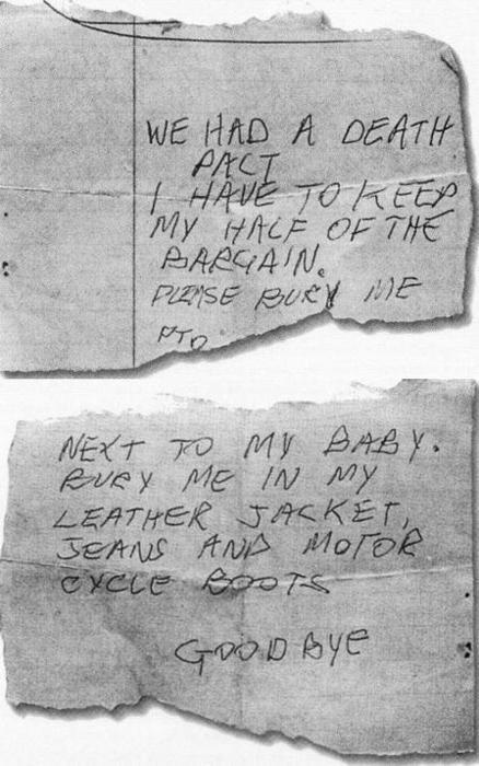 list pożegnalny Sida Viciousa