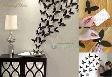 dekoracja ściany motylkami 3D