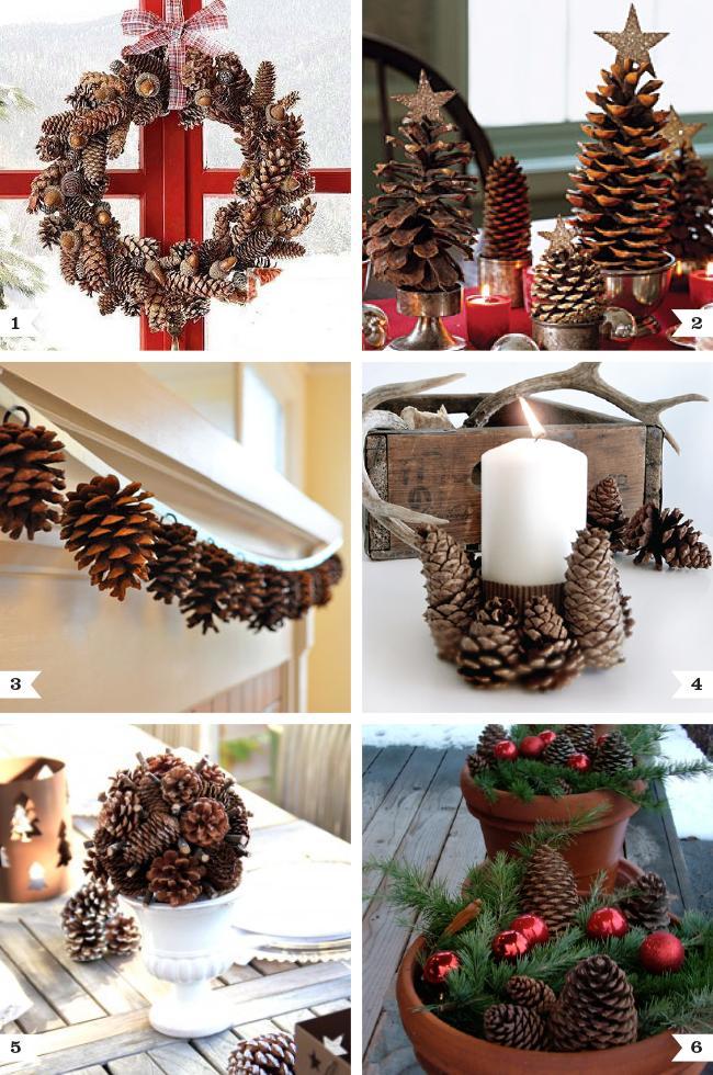 Pine cone decor ideas for Christmas