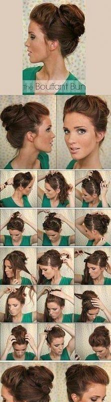 Fajna fryzura na różne okazje :))