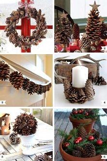 Pine cone decor ideas for C...