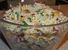 Sałatka królewska z ryżem Składniki: 3 woreczki ryżu np. Albaris 2 piersi z k...