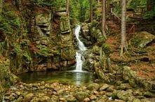 Wodospad w Karkonoszach.
