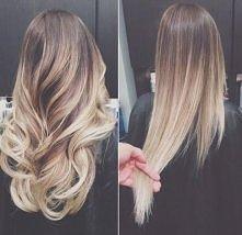 włosy ombre.