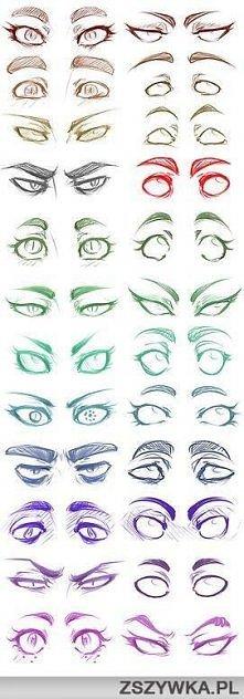 Macie najprostrze oczka z mangii do narysowania ;)