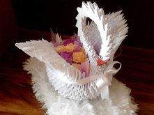 łabędź origami modułowe