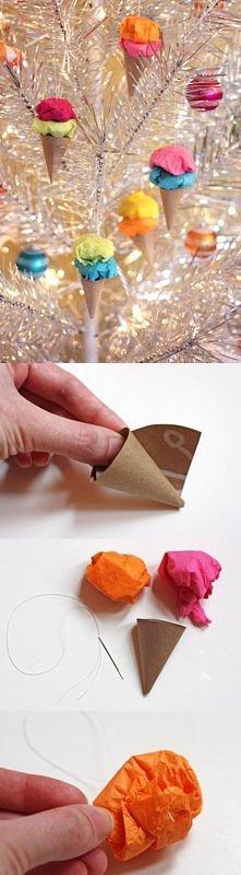 DIY ♥ lody - bombki na choinkę